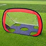 "2-in-1 Football Goal, SKL Foldable and Portable Soccer Goal/Quick Up Goal/Pop Up Soccer Goal for kids (43.3""L X 31.5""W)"