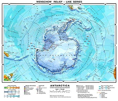 XXL - 65 Inches - Original Antarctica Physical Map (School