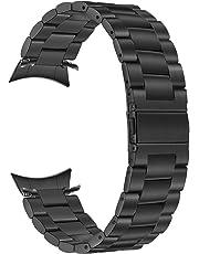 Galaxy Watch 42mm Band, TRUMiRR Solid Metal Stainless Steel Watchband Zero Gap Curved End Strap Men Women Wrist Bracelet Wristband for Samsung Galaxy Watch 42mm (SM-R810/R815), Black