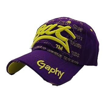 Gorras Beisbol,Zarupeng Gorras Bordadas Bat Summer Cap para Hombres Mujeres Sombreros Casuales Hip Hop Gorras de béisbol (Púrpura): Amazon.es: Deportes y ...