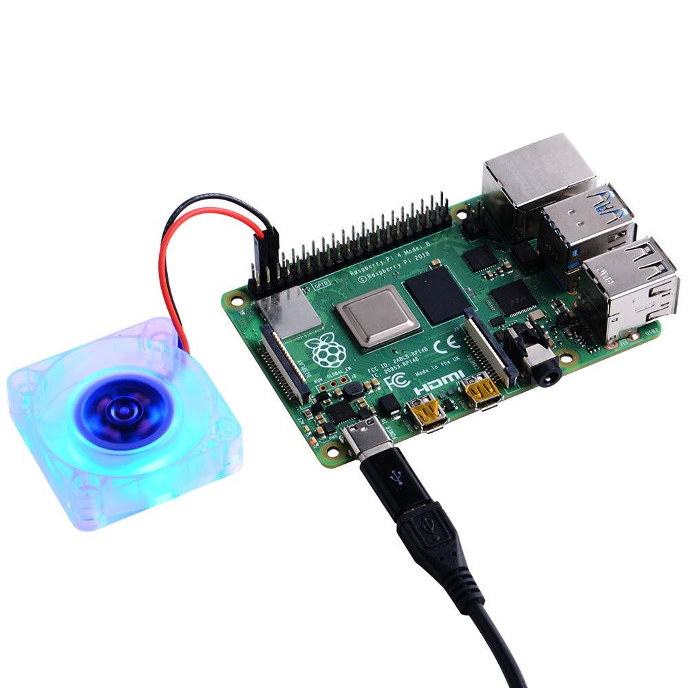 Raspberry Pi 3//2 Mod/èle B GeeekPi 2PCS Raspberry Pi Ventilateur de refroidissement 40x40x10mm DC 5V Brushless CPU Cooling Fan pour Raspberry Pi 4 Mod/èle B 3B