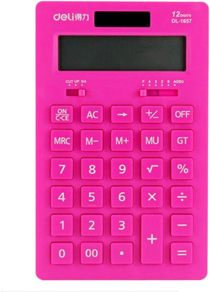 Multi-Function Student Function Science Solar Dual Power Calculator with Slidable Protective Hard Cover GGJIN Calculator Scientific Calculators for Secondary School