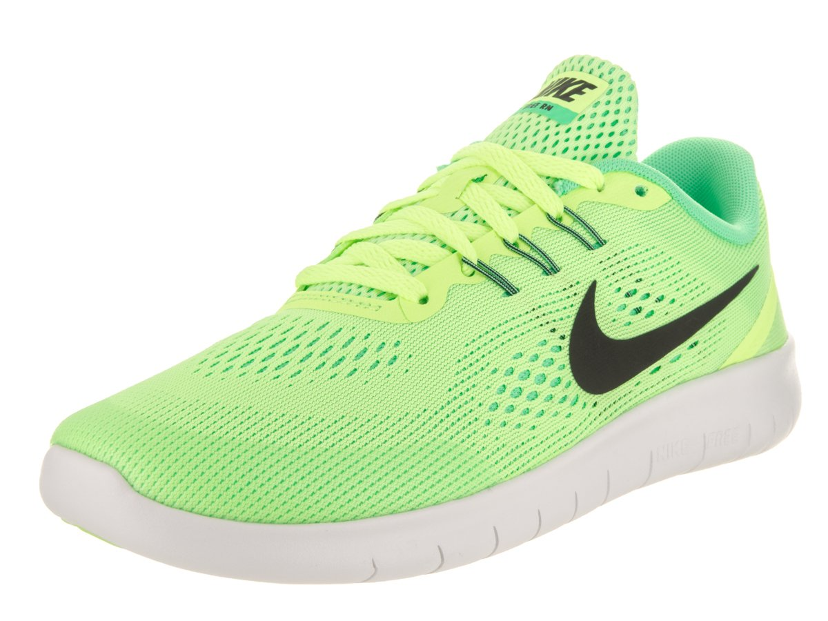 732aa9b8cb78 Galleon - NIKE Kids Free Rn (GS) Ghost Green Black Running Shoe 5.5 Kids US