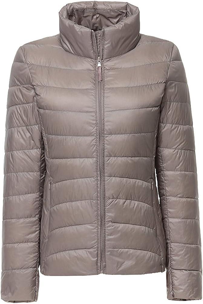 ZhuiKun Womens//Ladies Ultra Lightweight Long Sleeves Packable Down Puffer Jacket