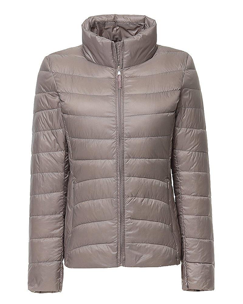 ZhuiKun Damen Daunenjacke Steppjacke Packbar Ultra Leicht Gewicht Daunenmantel Winter Jacke