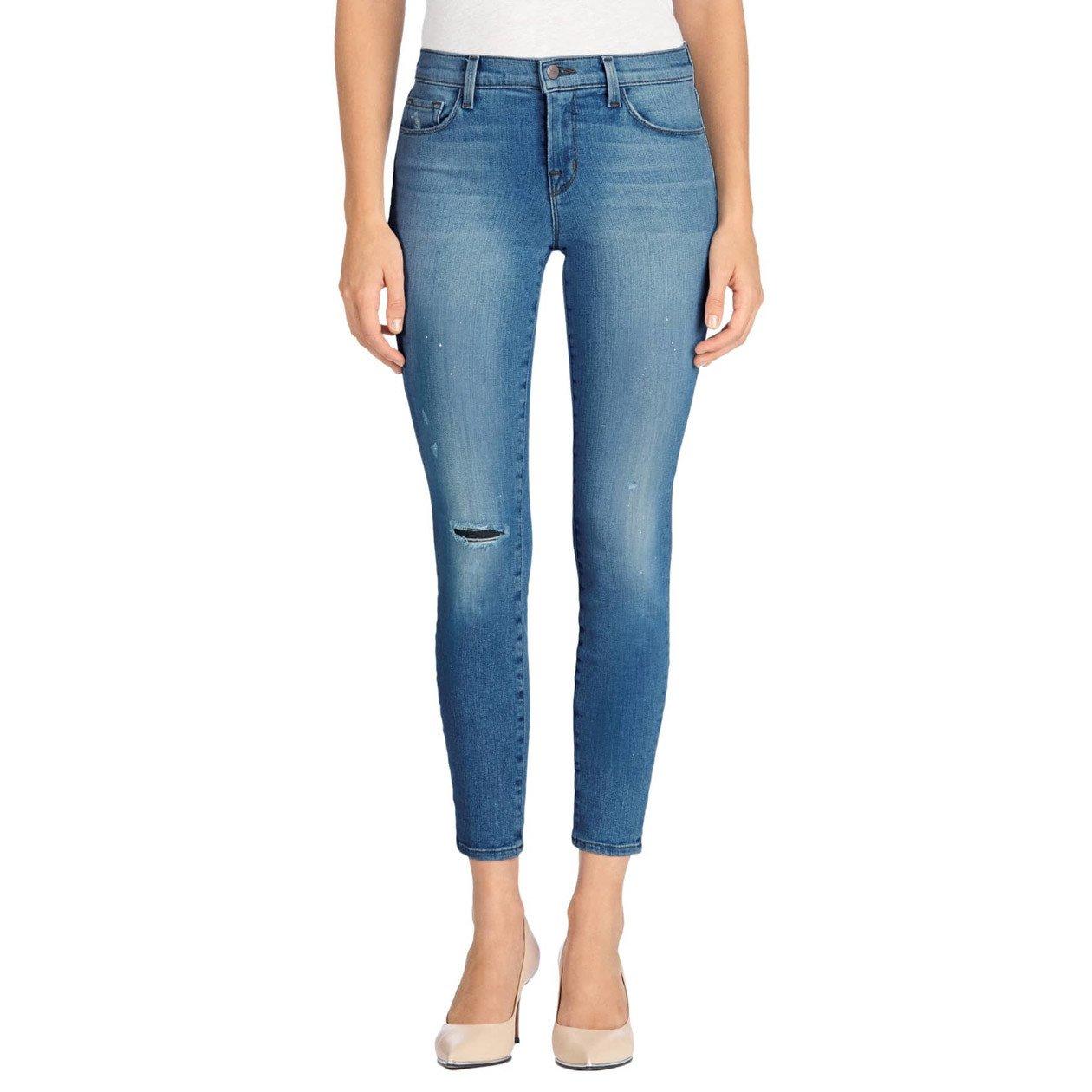 J Brand Jeans Women's 835 Mid-Rise Capri Collision Jeans (30, COLLISION) by J Brand Jeans