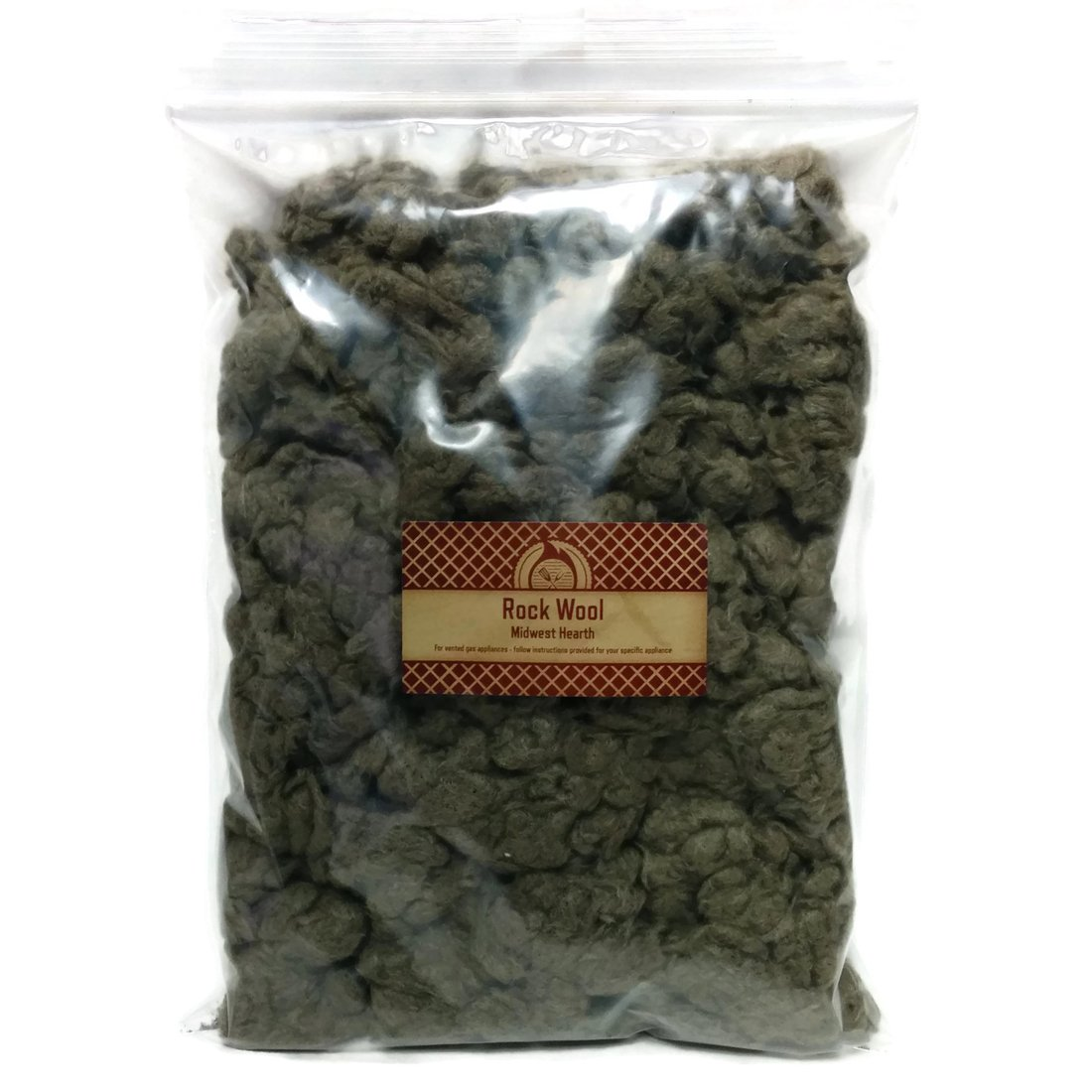 Midwest Hearth Rock Wool for Gas Log – 6 oz. Bag