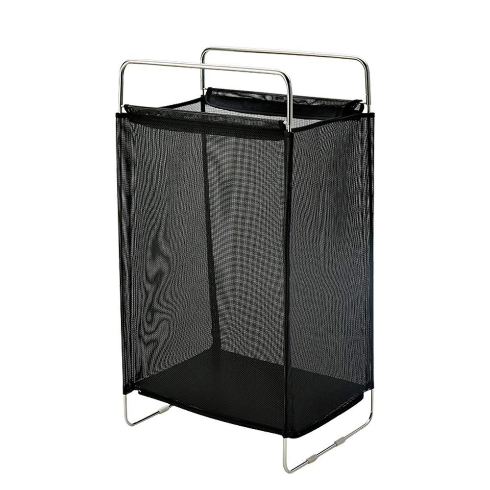 ランドリーバスケットホームバスルームの障害物ランドリーバスケット収納バスケット B07Q6RTPYY black
