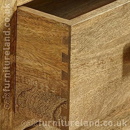 Amazon.com: Mantis Light Natural Solid Mango 6 Drawer Chest By Oak  Furniture Land: Appliances