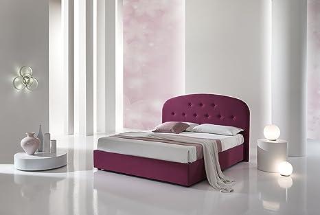 dormire meglio Letto imbottito GRACE con contenitore, in microfibra ...