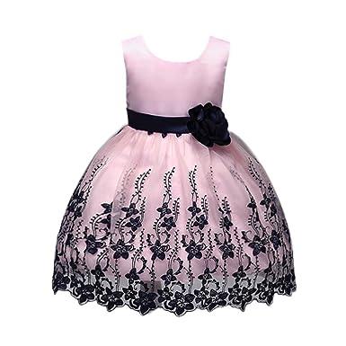f93a1fa8ce3d Mädchen Kleider Röcke Longra Kinder Kleider Festliches Kleider Blumekleid  Prinzessin formale Festzug Partykleid Urlaub Hochzeit Brautjungfer