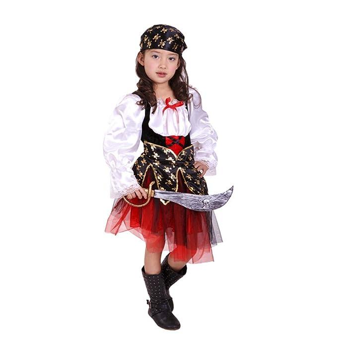 Dr.mama Disfraz Cosplay Infantil Trajes de Piratas para ...