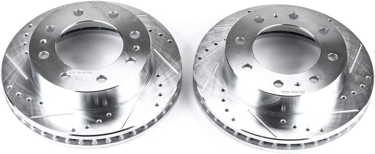 Power Stop AR8655XPR Front Evolution Drilled /& Slotted Rotor Pair