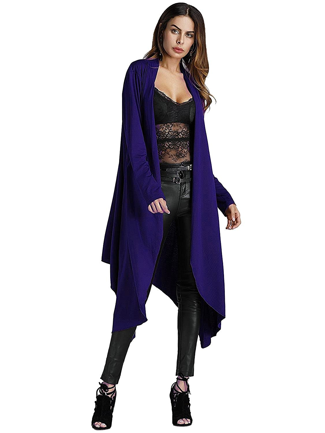 Womens Trendy Long Sleeve Open Front Maxi Cardigan