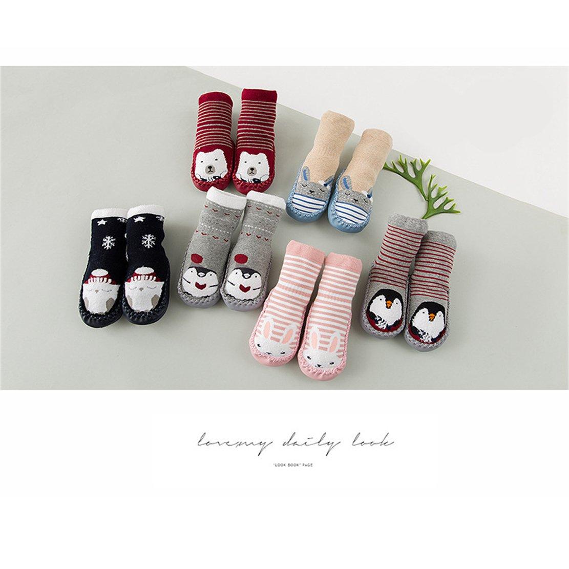 Conjunto A Talla L Beetest 2 Pares Lindo algod/ón Engrosamiento beb/é ni/ños Chicos Chicas Calcetines Zapatos Botas Zapatillas Piso 15cm Suela
