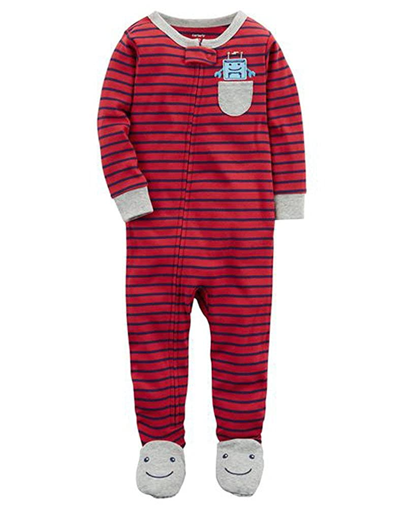 Red Multi, 12 Months Carters 1-Piece Snug Fit Cotton PJs