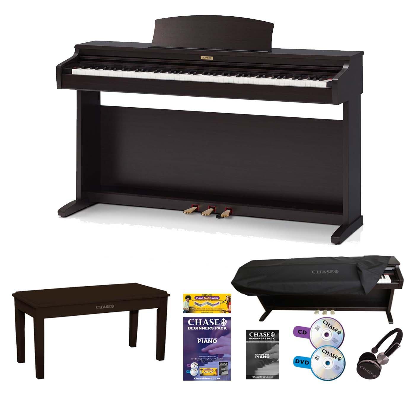 Kawai KDP-90 Digital Piano Bundle in Rosewood Finish