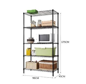 Amazon.de: Küchenmöbel-WXP Metall Regal Multifunktions Küche ...