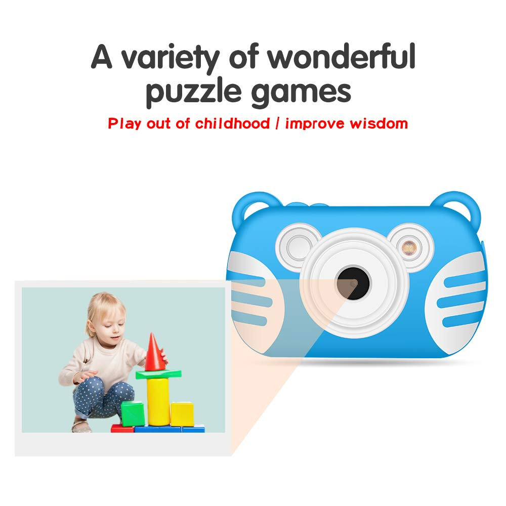 CamKing Kids Digital Camera, K3 2.7'' Screen Children's Cartoon Digital Camera, Blue by CamKing (Image #8)