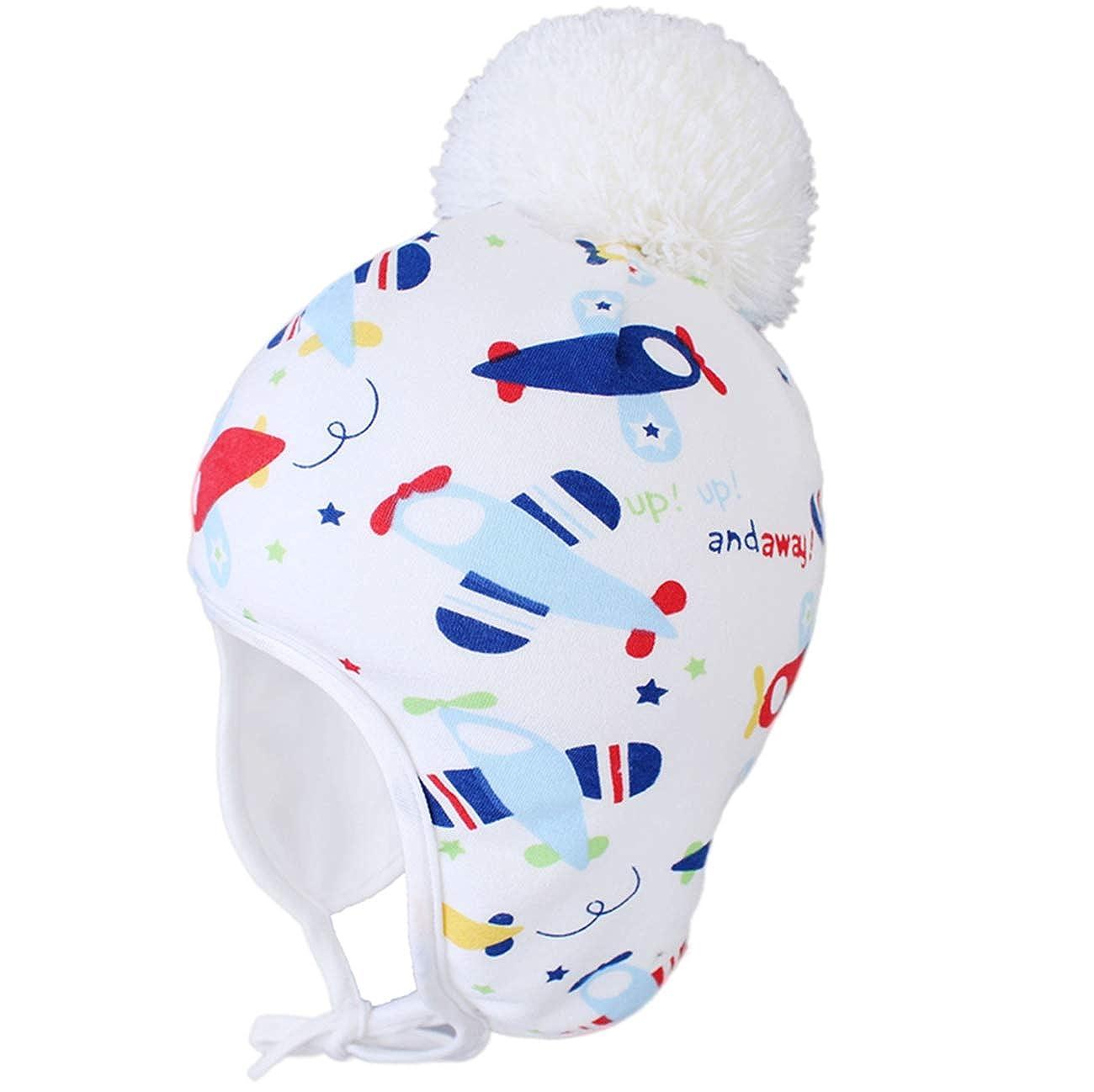 LLmoway Baby Toddler Beanie Hats Boys Girls Fall Winter Fleece Hat with Earflap