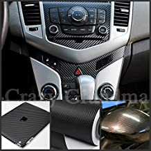 "[Taro Works] 3d Carbon Fiber Vinyl Flex Wrap Black 60""x12"" 152cmx30cm"