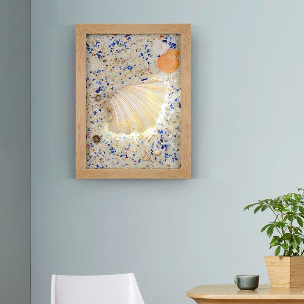 Unbekannt Met Love Kunst Shell Wandleuchte Led Wandleuchte Kreative Persönlichkeit Studie Schlafzimmer Kinderzimmer Wohnzimmer Mittelmeer Lichter (Farbe : C)