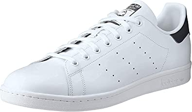 Walter Cunningham Permanecer de pié pulmón  Amazon.com | adidas Originals Men's Stan Smith Leather Sneaker, Core  White/Core White/Dark Blue, 10.5 | Fashion Sneakers
