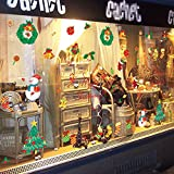 Merry Christmas Shop Window Decals Santa Claus Removable Home Decor Room Window Decor Decals Wall Art Mural Festival Decor Decals for Kids Girls Boys 27.2 x 36 Inch