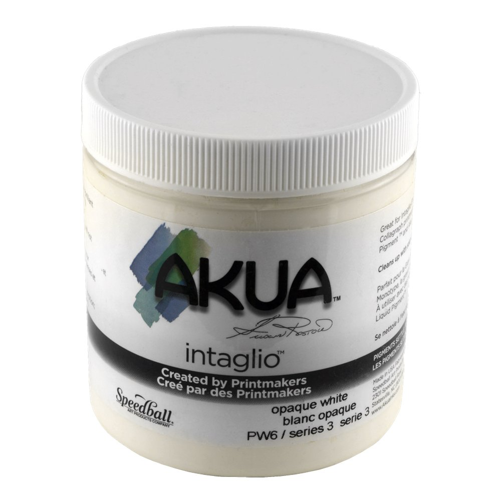 Akua Intaglio Print Making Ink, 8 oz Jar, Opaque White (IIOW) SPEEDBALL ART PRODUCTS 4336975766