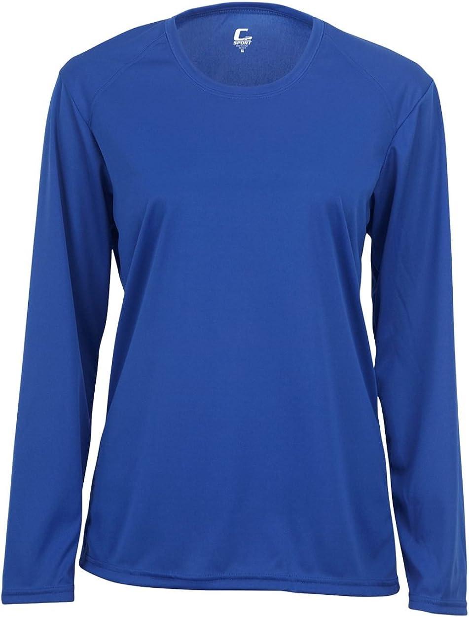 Royal Blue Ladies Medium Long Sleeve Performance Wicking Athletic Sports Shirt//Undershirt//Jersey