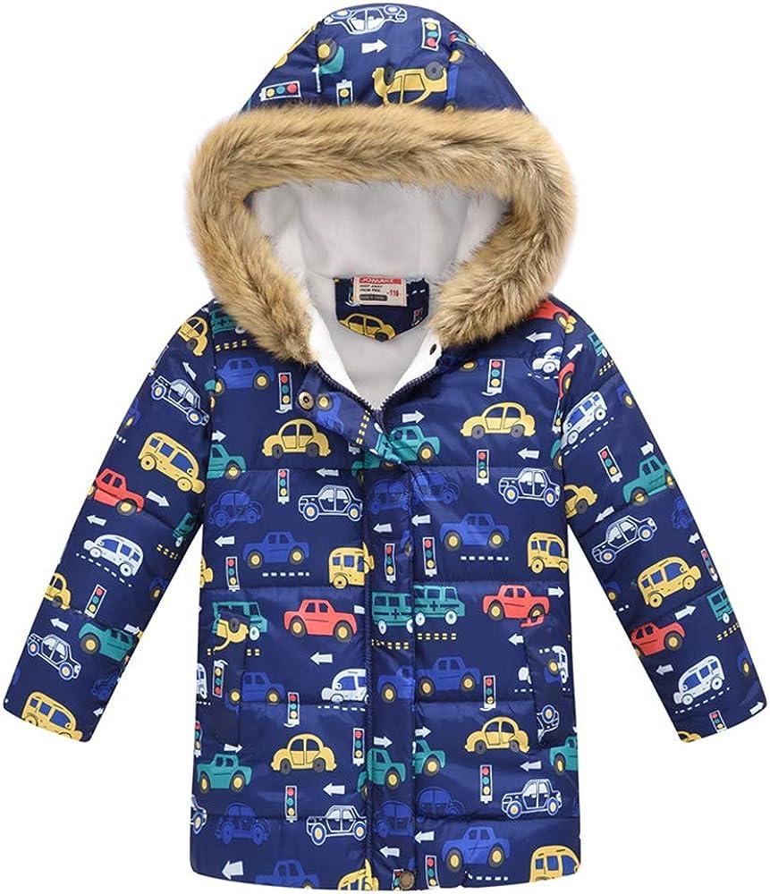 Miss Bei Boys Water-Resistant Hooded Parkas Puffer Jacket Winter Coat