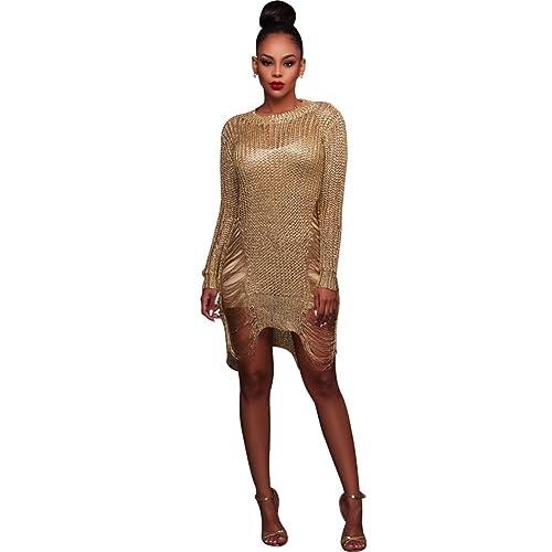 Womens Sexy See Through Bikini Cover Up Long Sleeve Clubwear Party Mini Dress