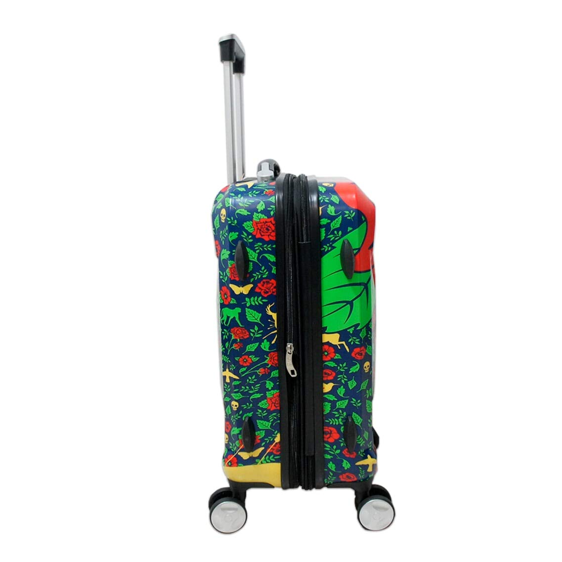 White//Red Frida Kahlo Official 2 Piece 20 28 Lightweight Spinner Travel Luggage Set