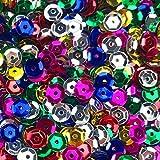 fireboomoon 10,000pcs Bulk Craft Copa lentejuelas colores mezclados y tamaños, lentejuelas y lentejuelas Craft Supplies