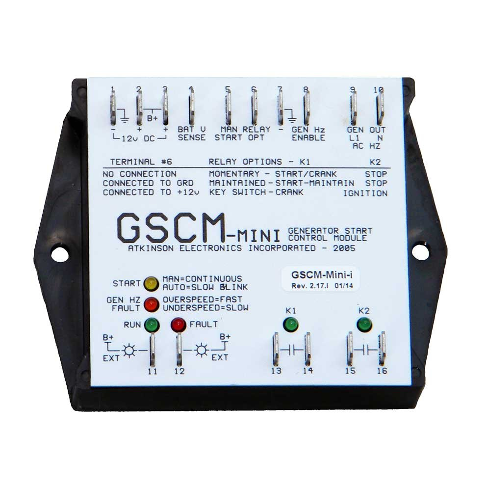 Atkinson Mini Generator Start Control Module Gscm Onan Inverter Charger Wiring Diagram I Industrial Scientific