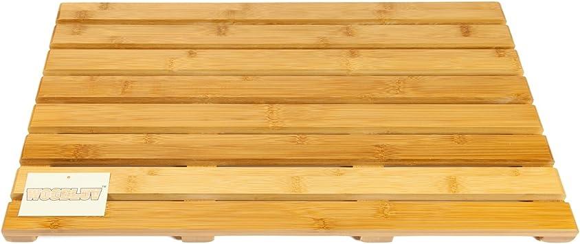 Bambus rechteckig Woodluv W/äschekorb Duckboard Luxus-Badematte gro/ß