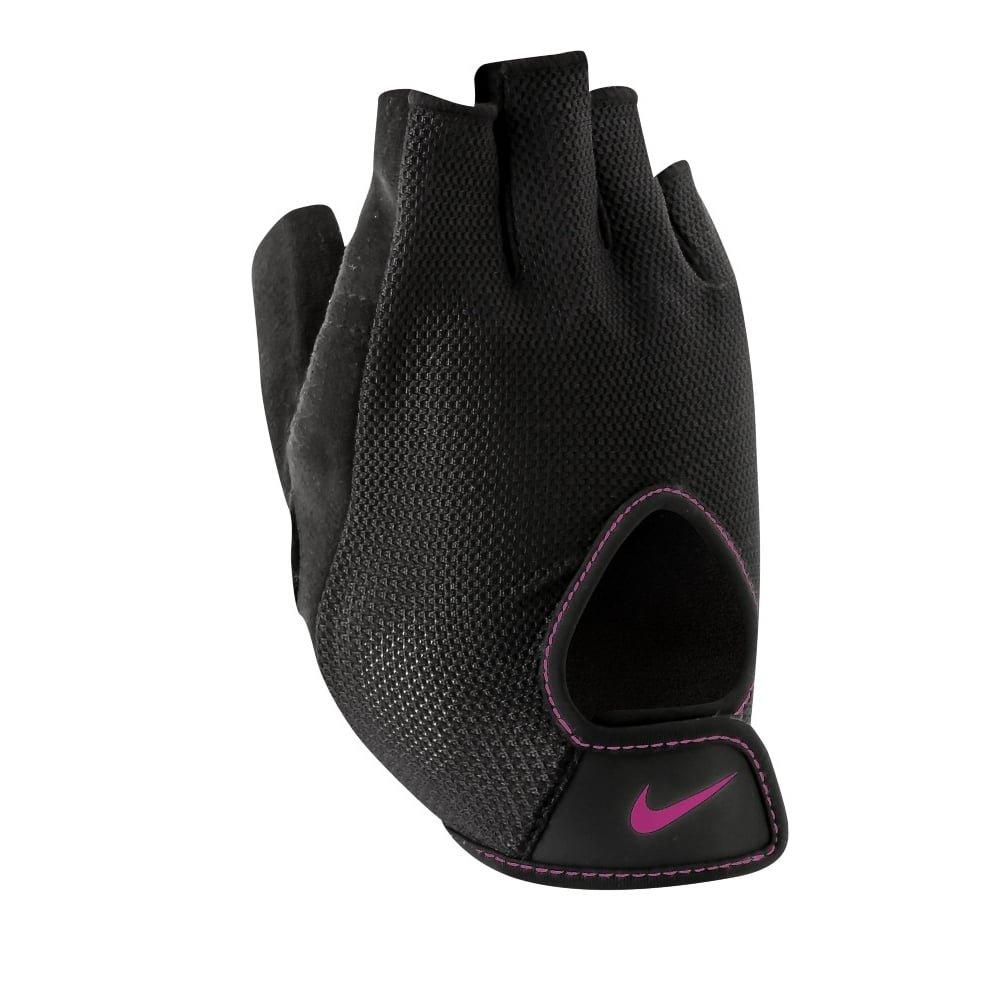 Nike Women 's Fundamentalトレーニング手袋 B014ILUIXA Black/Club Pink Small