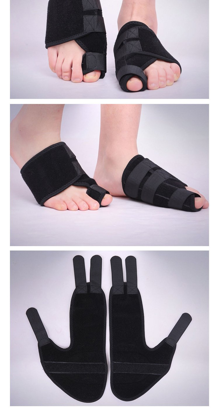 (Pair) Bunion Corrector Hallux Valgus Foot Brace Splint Pads | Toe Separator Straightener | Relief Aid Surgery Treatment (One Size)