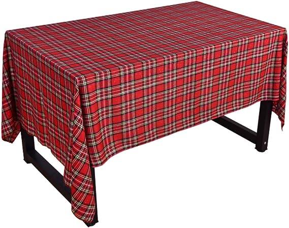 Mantel de Navidad, Tela escocesa de algodón a doble cara Rojo Verde Navidad Clásico Rectángulo Mantel para cenas o reuniones familiares, fiestas de Navidad(1#): Amazon.es: Hogar