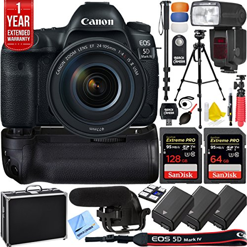 Canon 5D Mark IV EOS 30.4MP Full Frame DSLR Camera Pro Memor