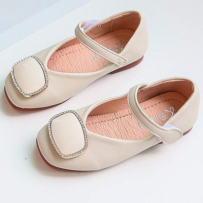 ZOREFINE ❤ Zapatos Princesa Niñas Damas Otoño PU Fondo Suave Boca ...