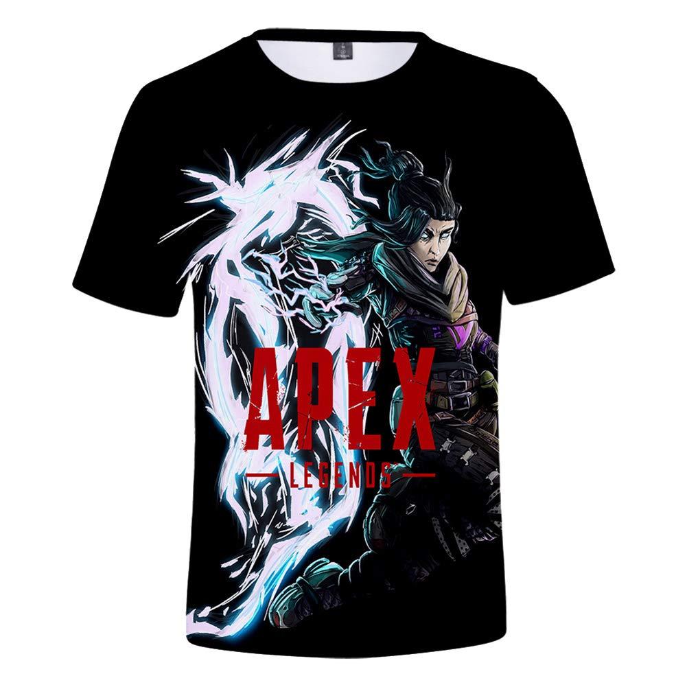 CTOOO Nueva Ni/ños Apex Legends Impresi/ón Digital 3D Camiseta De Manga Corta para Ni/ño Y Ni/ña Altura 110CM-160CM