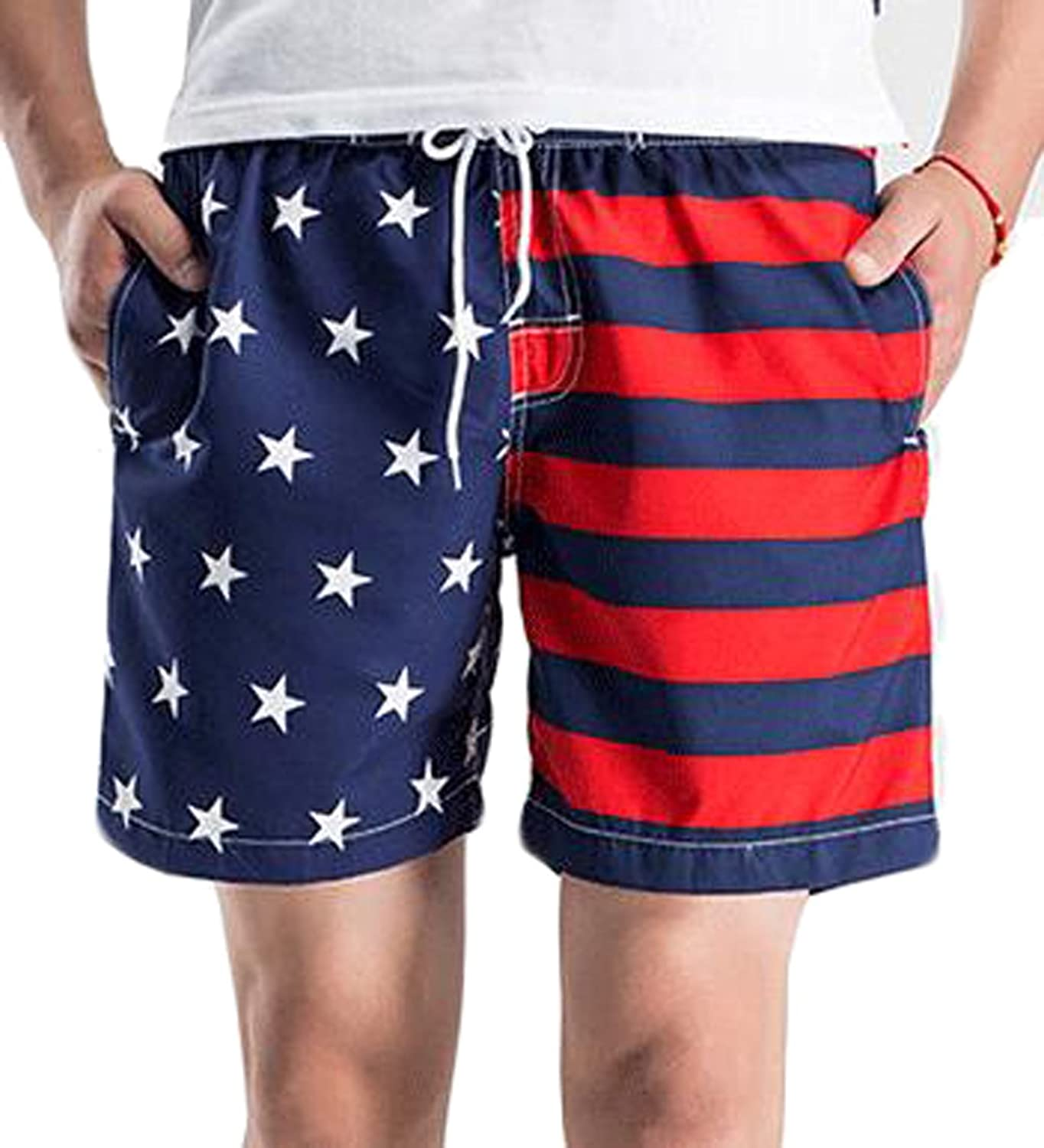 Feewearior Mens Beach Shorts Army Camouflage Military Swimming Trunks Board Pants Extended