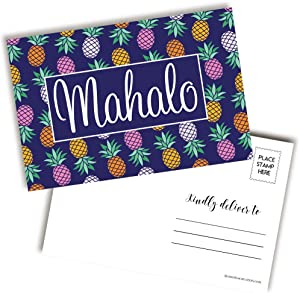 Bright & Colorful Pineapple Themed Mahalo Postcards To Send To Friends & Family, 4