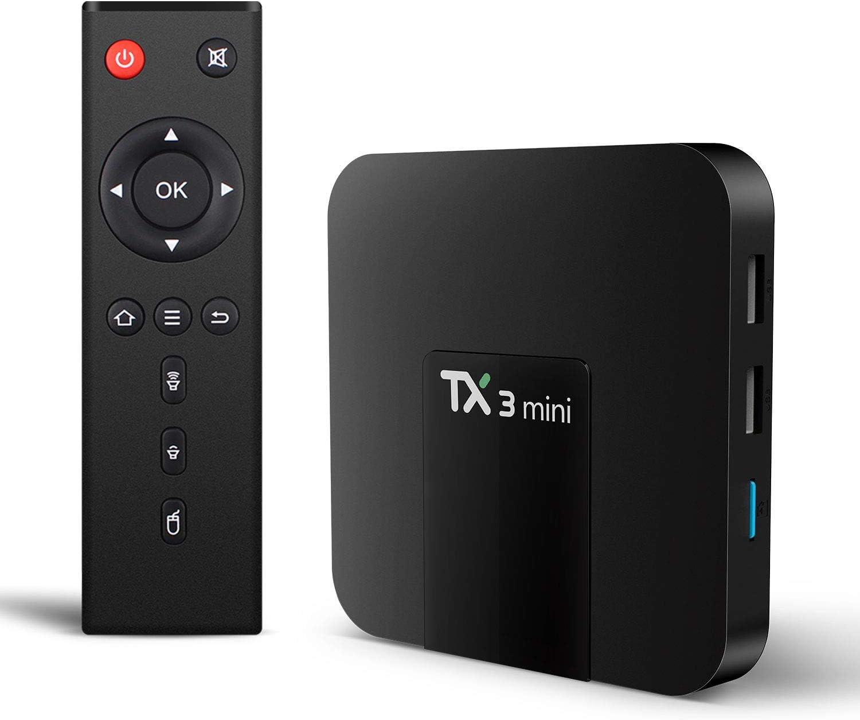 2019 TX3PRO Smart Android 7.1.2 Quad core S905W WIFI 4K Movies Sports TV BOX USA