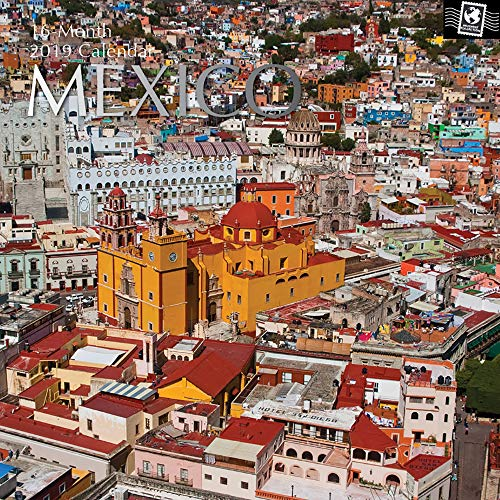 Mexico 2018 Calendar - 2019 Wall Calendar - Mexico Calendar, 12 x 12 Inch Monthly View, 16-Month, Travel and Destination Theme, Includes 180 Reminder Stickers