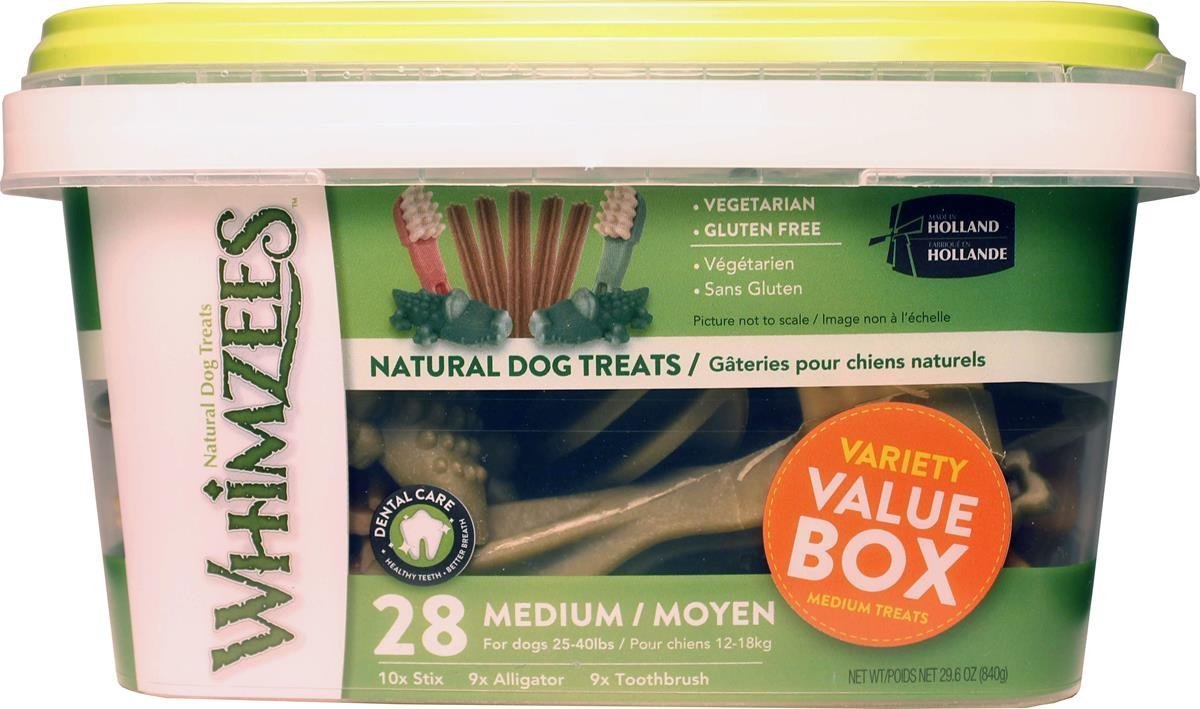 Whimzees Medium Variety Dog Treats Container (2-Pack) by Lovtepets
