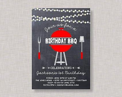 amazon com ruskin352 birthday bbq invitation backyard bbq