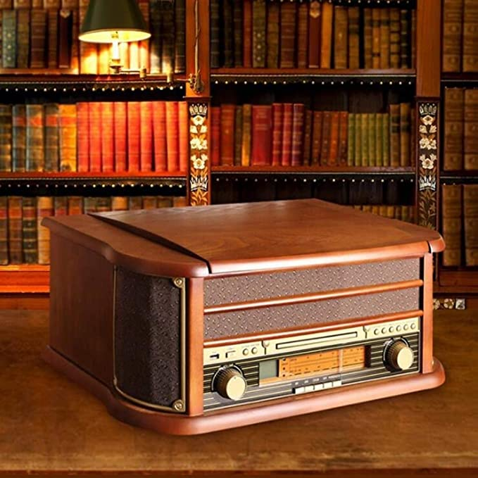 Amazon.com: XiaoZou Nostalgic - Tocadiscos de madera con ...