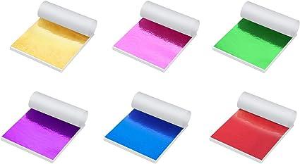300pcs Shiny Foil Paper Imitation Gold Leaf Sheets for Nails Paintings Statues